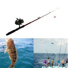 Pocket Fly Fish Pen Shape Telescopic Fishing Rod Pole+Reel+Line+Lures Left Hand