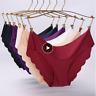 Women Underwear Ultra-thin Viscose Seamless Briefs Low-Raise Ruffles Panties