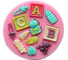 Baby Shower Silicone Cake Decorating Fondant Mold Cupcake Sugar Craft DIY Molds