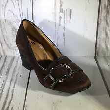 Söfft Brown Suede Wedge Loafer Style Shoes Size 5.5M Work Weekend Date Night