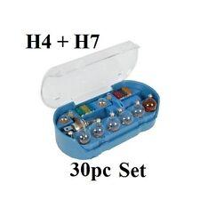 30pc Bombilla Auto Set H4 H7 en caso de reemplazo Luces Faros de vehículos de motor