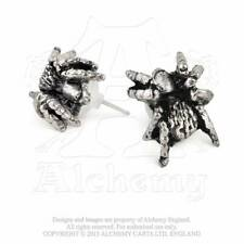 Alchemy Gothic Black Widow Stud Earrings-Pair - Goth,Gothic,Punk,Metal,Pewter,Je