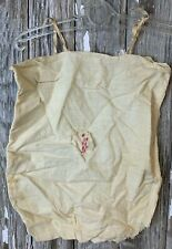 Antique Victorian Primitive Muslin Hand Made Sewn Baby Romper Embroidered Dog