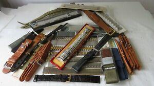 Q12 Vintage Used & NOS Men's Watch Bands, Parts Lot, Repair
