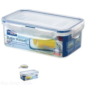 Lock And Lock Airtight Rectangular Food Storage Container With Butter Insert