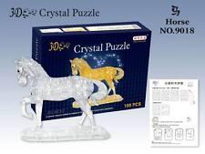 New Clear Horse Educational Toys Blocks 3D Crystal Puzzle Jigsaw 100pcs