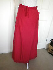 LONG TALL SALLY RED WITH LACE MIDI CALF LENGTH SKIRT SIZE 14 GOOD CONDITION