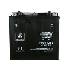 YTX14-BS BATTERY FOR KAWASAKI NINJA ZX12R ZX14 VN800 ZRX ZZR ZX 1100 1200 ZG1400