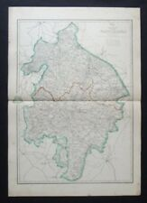 Antique Map: Warwickshire by Edward Weller, Weekly Dispatch Atlas, c 1860