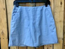 WOMENS ADIDAS STRETCH Golf Exercise Tennis Skirt Skort LIGHT BLUE SIZE 4