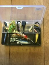 Job Lot Of Mixed Lures Tackle Box Spoons Spinners Diving Crank Weights 🐠🎣 14