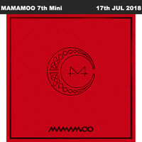 MAMAMOO Red Moon 7th Mini Album CD+Poster+Booklet+PhotoCard