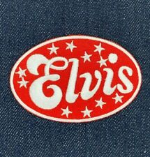 ELVIS PRESLEY ROCK N ROLL ROCKABILLY IRON ON EMBROIDERED PATCH