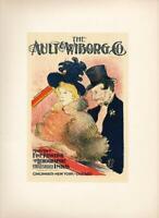 """""""AU CONCERT (1896)"""" BY TOULOUSE-LAUTREC, MOURLOT LITHOGRAPH, PRINTED 1950 (3Z-27"""