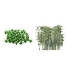 150pcs Mixed Scenery Model Grass + Bamboo Garden Park Miniature Landscape
