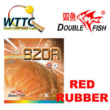 Double Fish 820A Medium Pips-Out Rubber Without Sponge RED