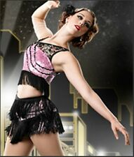 Jazz Age Pink & Black Dance Costume Size Adult Large from Curtain Call