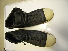 Kenneth Cole Mens Reaction Black High Top Fabric Trainers Shoes size 10.5M