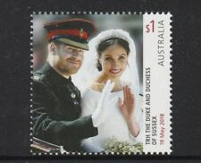AUSTRALIA 2018 - ROYAL WEDDING $1 single HARRY & MEGHAN MNH 19th May 2018