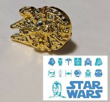 GLD1 STAR WARS Millennium Falcon Logo Metal Pin brooch badge darth vader cosplay