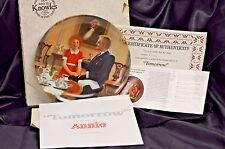 "Edwin M. Knowles ""Tomorrow"" 1985 Annie Collector's Plate"