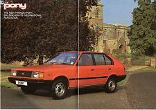 HYUNDAI PONY 1983-85 UK Opuscolo Vendite sul mercato 1200 1400 L GL GLS 5-dr