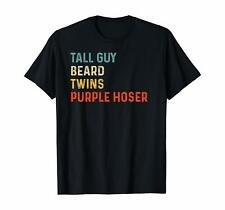 Perfect Gift For Kids Dude - Tall Guy Beard Twins Purple Hoser Vintage T-Shirt