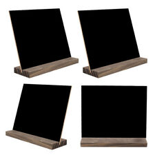 4PCS Chalk Board Vintage Wooden Blackboard Message Memo Board Wedding Sign