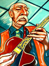 JIM HALL PRINT poster jazz sadowsky guitar concierto cd bossa antigua archtop