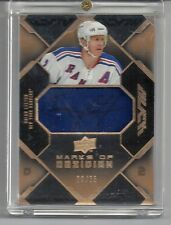 NY RANGERS UD BLACK BRIAN LEETCH 2007/08 MARKS OF OBSIDIAN AUTO PATCH 20/25