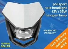 POLISPORT HALO HEADLIGHT WHITE 12V 35W HALOGEN FIT SUZUKI DRZ400 DR-Z400