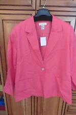 Appleseed's bright Coral blazer suit jacket work semi formal size 22W buttons