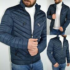 Young Fashion Mode Herren Snowbord Ski Herbst Winter Gesteppt dunkelblau Jacke