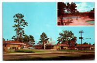 1950s/60s The Atlanta Motel and Cactus Cafe Grill, Jonesboro, GA Postcard