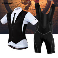 Men Cycling Sets MTB Bike Tops Bib Shorts Padded Summer Short Sleeve Jersey Kits