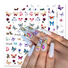 3D Nail Stickers Butterfly Transfer Beautiful Decals 3D Nail Art Decoration