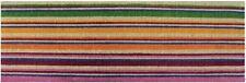 LONG Horizontal Stripes Colourful Design Stunning 100% Coir Doormat / Door Mat