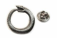 OUROBOROS Serpent Eating Tail Introspection Egypt Hat Jacket Tie Tack Lapel Pin