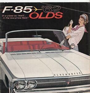 1962 OLDSMOBILE F-85 GM AUTOMOBILE CAR ADVERTISING SALES BROCHURE GUIDE VINTAGE