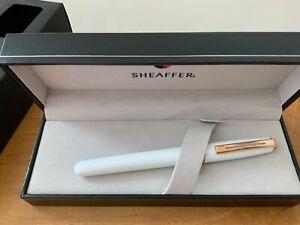 Sheaffer Prelude 9142 White Rose Gold Trim  RRP £85 Med New Boxed Free UK Post