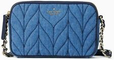 Kate Spade Briar Lane Quilted Kendall Denim Crossbody Bag Wlru5405nwt