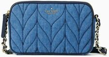 Kate Spade Kendall Briar Lane Quilted Denim Sm Double Zip Phone Crossbody Bag