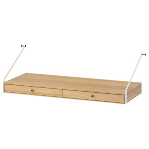 "IKEA SVALNAS Desk Space w/ 2 Drawers 31 7/8"" x 13 3/4"" (403.228.76) NEW IN BOX"
