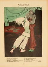 NIJINSKY & PAVLOVA SHEHERAZADE 1912 SCHNACKENBERG BALLET RUSSES ORIGINAL PRINT