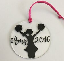 Personalized Acrylic Ornament Cheer Cheerleader Pom Poms Dancer