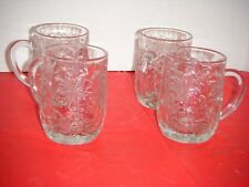 "Princess House FANTASIA 4"" Tall Coffee / Beverage Mugs (Set of 4)"