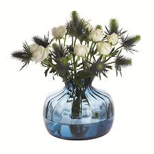 Dartington Crystal Cushion Vase Medium Ink Blue