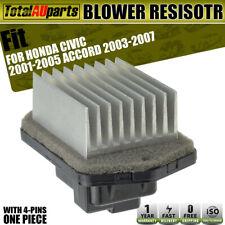Blower Motor Heater Fan Resistor for Honda Civic 01-05 Accord 03-07 077800-0780