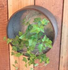 """9.5"""" Galvanized Metal Hanging Wall Fence Planter"""