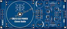 1X LM317 LM337 adjustable voltage regulator output transformer circuit board PCB